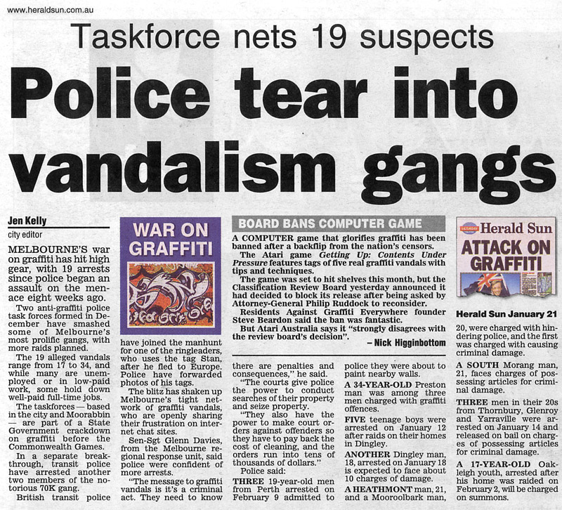 newspaper guide pertaining to gang violence